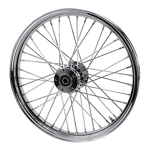 Chrome Front 40 Spoke Wheel 21''x2.15'' (fits Harley Softail 2000-2006, Dyna FXDWG 2000-2005) by MOTO IRON