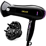 Hair Dryer with Diffuser, Exwell 1875W Lower Noise(75dB)...
