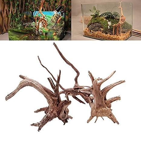 UEETEK Driftwood de la rama natural de las decoraciones del acuario para la decoración del acuario: Amazon.es: Productos para mascotas