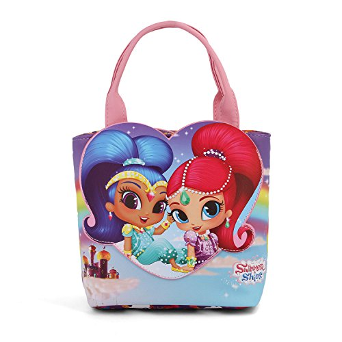 24 amp; Beach Go à Main Bag Shine Canvas et Purple Shopping cm Sac Tote Shining Karactermania Shimmer wvB6CqxvT