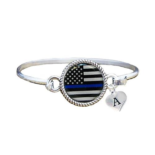 Amazon Com Custom Police Appreciation Thin Blue Line Silver