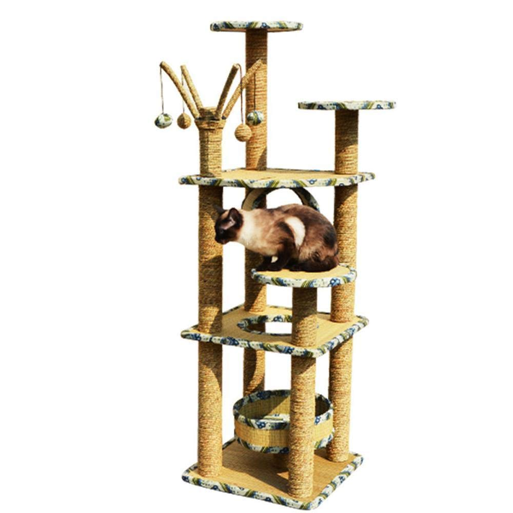 Beige Axiba Play Towers Trees for Cats Cat climbing cat nest big cat rack water Rope Cat Scratch Board cat grab column cat jumping cat toy 45cm 45cm  158cm