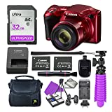 Cheap Canon PowerShot SX420 is Digital Camera (Red) with 32GB SD Memory Card + Accessory Bundle