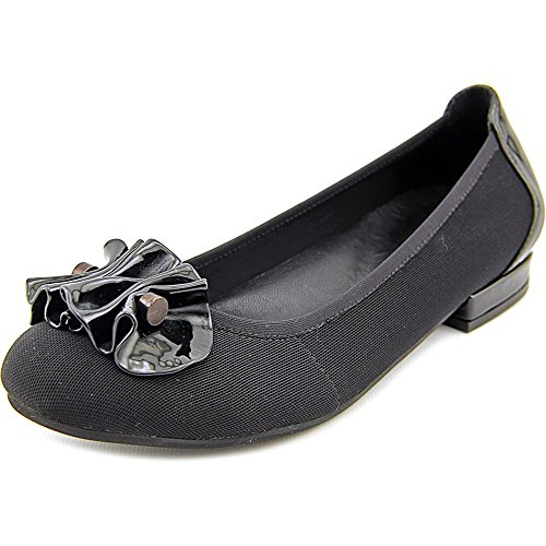 Round Micro Flats Alice Leather Women Patent Tate Black Toe David Pattern Black tZ6PqOwx