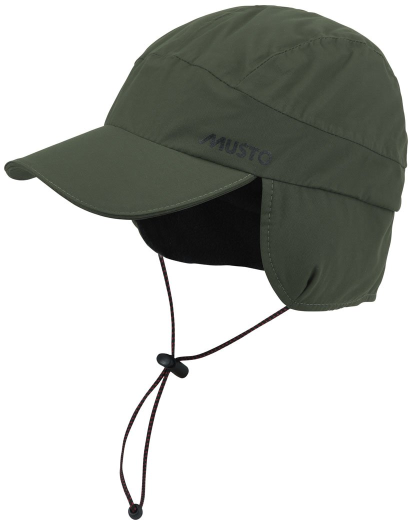 Musto Waterproof Fleece Lined Cap Dark Moss AE0080 Size - - One Size