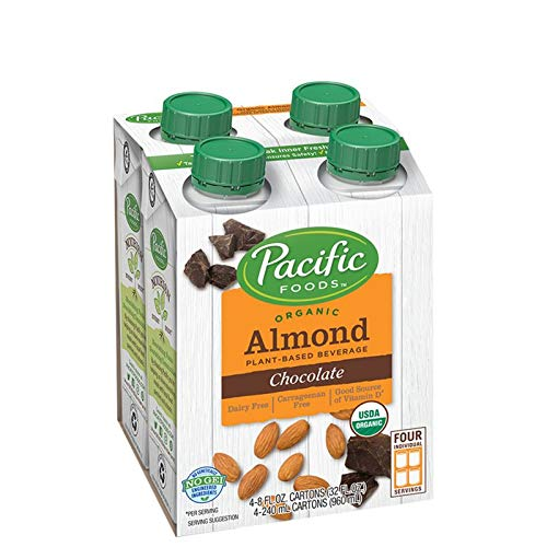Pacific Foods Organic Almond Non-Dairy Beverage, Chocolate, 8-Ounce, (Pack of 24)