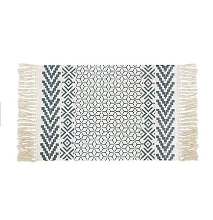 Lorena Canals Tapis Ethnique Lavable en Coton Motif azt/èque Bleu 120/x 160/x 30/cm