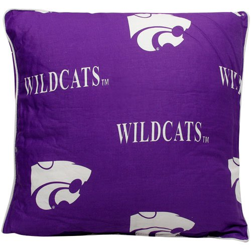 College Covers Kansas State Wildcats Pair of Decorative Pillow, 16 by 16