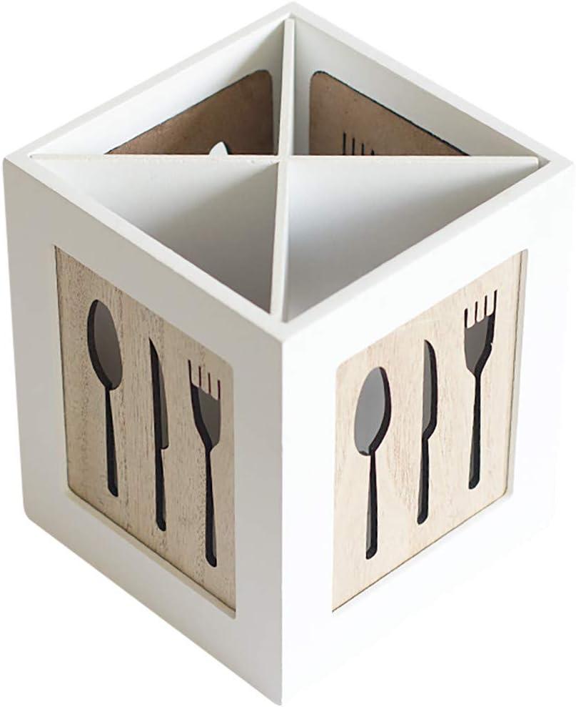 Fan-Ling Creative Tableware Storage Basket Hollow Box,Multifunctional Wooden Storage Box,Chopsticks, Spoons, Fork Storage Tools, Wearable &Durable