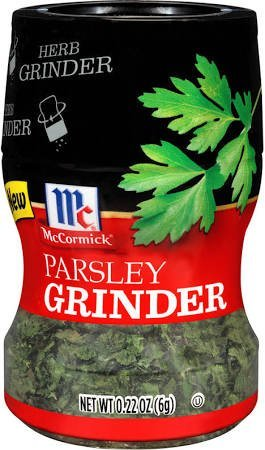 McCormick Parsley Spice Grinder, 0.22 OZ (Pack - 8)