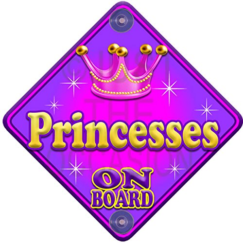 Allure PRINCESSES Pink Baby on Board Novelty Car Window Sign Just The Occasion