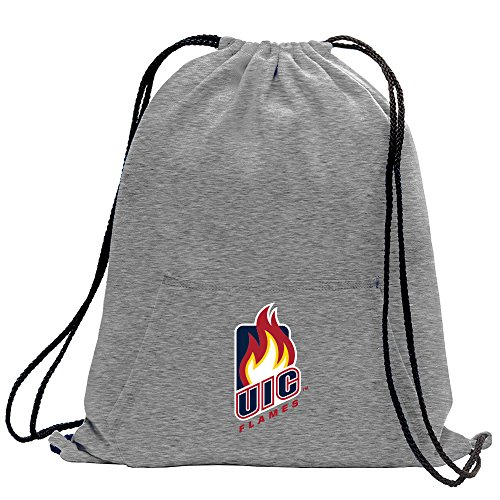 Campus Merchandise NCAA Illinois Chicago Flames Adult Sweatshirt Cinch Bag,17.75