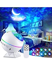 Perkisboby Galaxy Projector Star Projector, Night Light Projector with Remote Control, Nebula Cloud, Moon, Super Silent, 360° Magnetic Base for Bedroom, Car, Party Decoration, Game Rooms