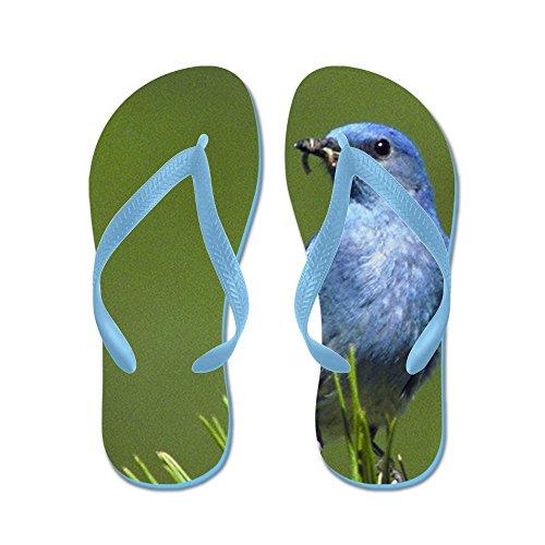 Virkelig Teague Menns Blå Fugl På En Eviggrønn Gummi Flip Flops Sandaler Caribbean Blue