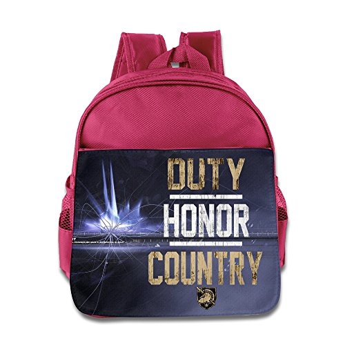 Army Black Knights Institution Duty Honor Kids School Pink Backpack Bag