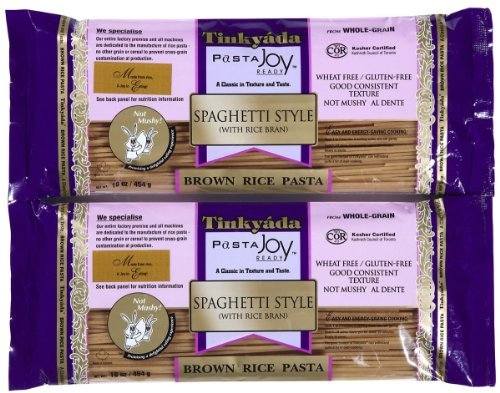 Tinkyada Brown Rice Spaghetti w/ Rice Bran, 16 oz, 2 pk