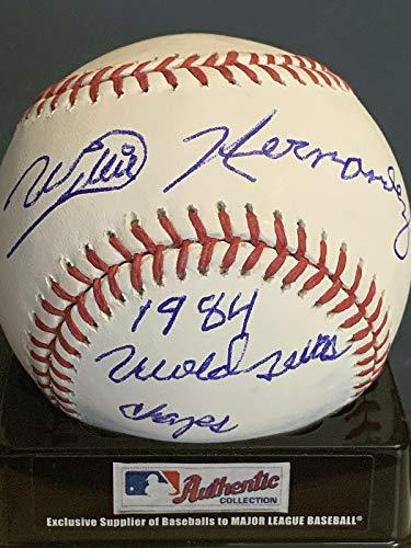 1984 World Series Champs - Willie Hernandez Autographed Baseball - 1984 World Series Champs Oml - Autographed Baseballs