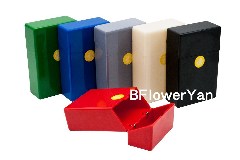 BFlowerYan Pack of 3 Hard Box Full Pack Cigarette Case (King Size) (Assorted Colors)