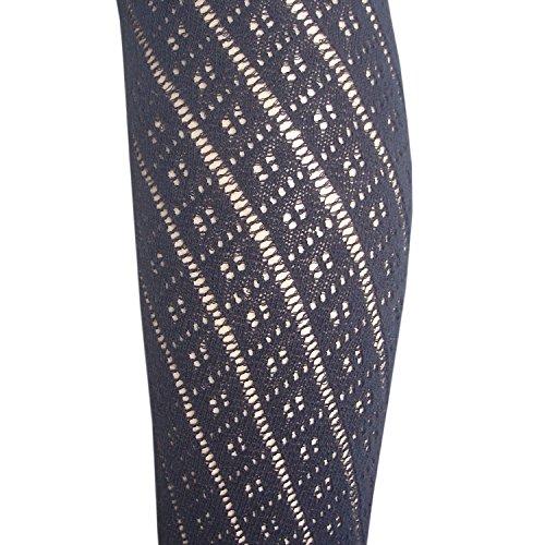 Calze Nero con donna cotone ampia da pizzo paAq6rpP