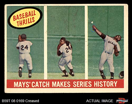 (1959 Topps # 464 Catch Makes Series History Willie Mays San Francisco Giants (Baseball Card) Dean's Cards 2 - GOOD Giants)