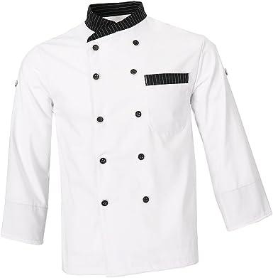 Fenteer Abrigo Camisa de Chef Uniforme Trabajo Profesional Cocina Diseño Simple Confortable: Amazon.es: Ropa y accesorios