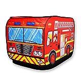 Kids Children's Vehicle Tent Fire Engine Indoor Outdoor Pop Toy Container Play Area 72X72X112cm