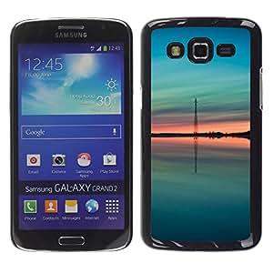 iKiki Tech / Estuche rígido - Teal Green Peach Summer Nature - Samsung Galaxy Grand 2 SM-G7102 SM-G7105