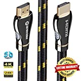 4K HDMI Cable/HDMI Cord 3ft - Ultra HD 4K Ready HDMI 2.0 (4K@60Hz 4:4:4) - High Speed 18Gbps - 28AWG Braided Cord-Ethernet / 3D / HDR/ARC/CEC/HDCP 2.2 / CL3 - Xbox PS4 PC HDTV by Farstrider