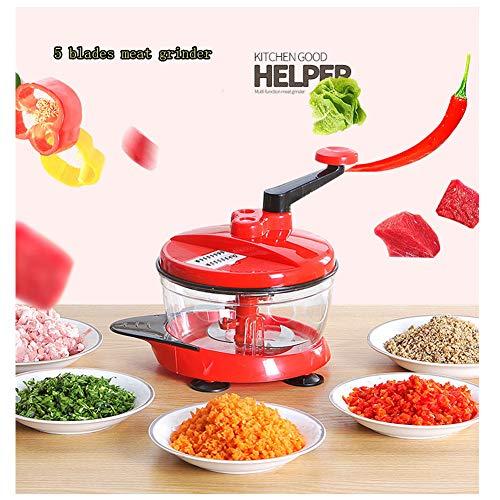 Multifunctional Manual High Speedy Vegetable Fruit Meat Twist Chopper Cutter Shredder Grinder by NOQ (Image #1)