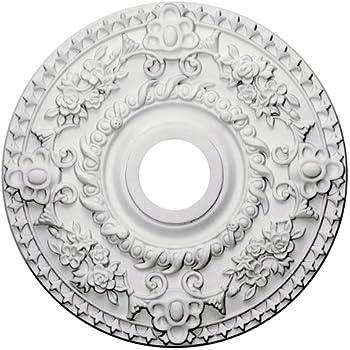 Ekena Millwork CM18RO Rose Ceiling Medallion, 18