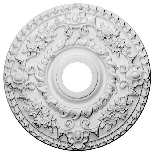 Medallion Double Handle - Ekena Millwork CM18RO Ceiling Medallion, Primed