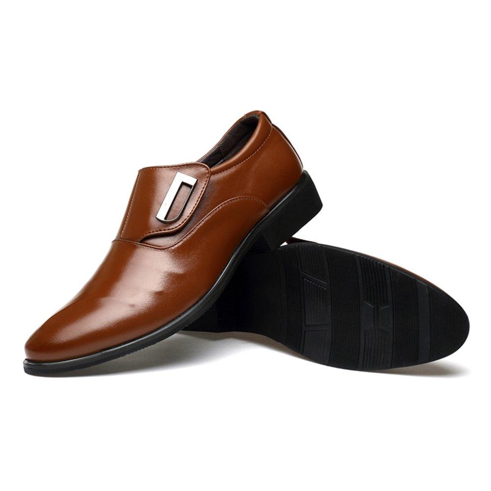 Poplover Hombre Zapatos De Vestir Planos Oxford Zapatos de Cuero ...