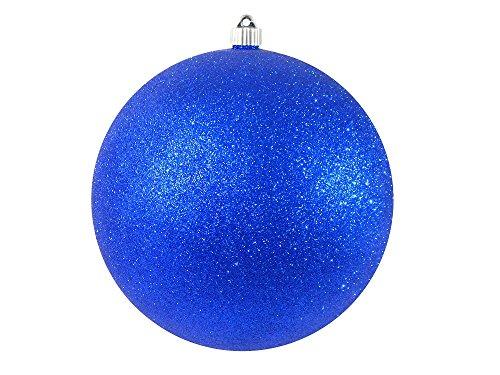"""Christmas by Krebs CBK80663 Shatterproof Christmas Ball Ornament, 10"""", Dark Blue Glitter"""