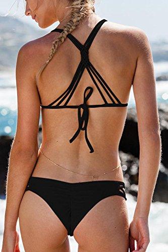 Donna Scissione Treccia Sexy Black Bikini Mano nSIwq4PCz