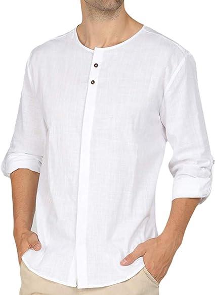 2019 Camisa Hombre Blusa,🍒 Madeuf 🍒 Hombre Cuello En V Camisetas ...