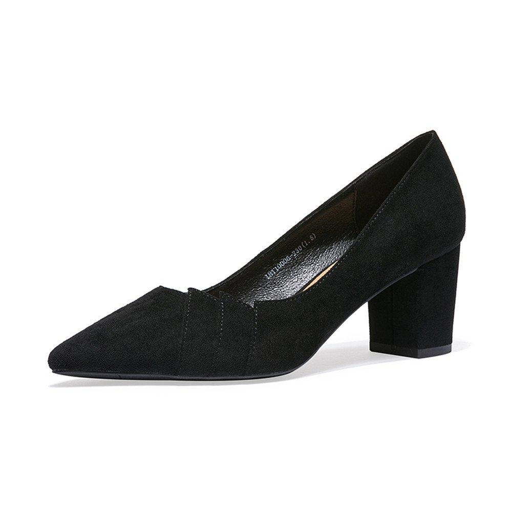 XZGC Fashion Heels Vintage Dick Gebürstet Tipp von von von Frauen Schuhe 377a3d