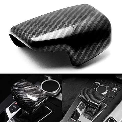 (Xotic Tech Carbon Fiber Pattern Center Console Gear Shift Knob Cover Trim Decoration for Audi Q7 A4L A5 Q5L)