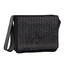 Lassig Green Label Small Messenger Bag Black Melange, Black Melange