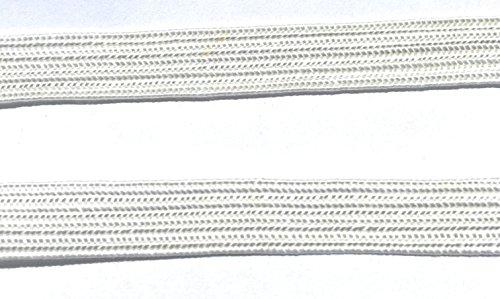 Off White Braid -Flat Middy Braid Cord -,3/8