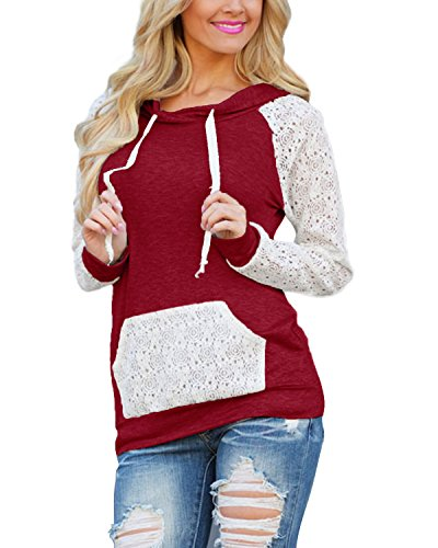 Hooded Long Sleeve Lace - 5