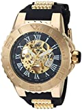 Invicta Men's 'Pro Diver' Automatic Gold-Tone and Stainless Steel Casual Watch, Color:Black (Model: 24742)