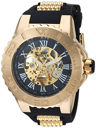 Invicta Men s Pro Diver Automatic-self-Wind Watch with Stainless-Steel Strap, Black, 28 Model 24742