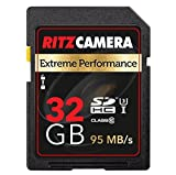 Ritz Camera Extreme Performance SD 32GB 95/45 MB/S Read/Write Speed U3 Class-10 SDHC Memory Card