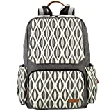 Lekebaby Diaper Backpack with Portable Changing Pad for Mom and Baby Outdoor Travel Use, Grey