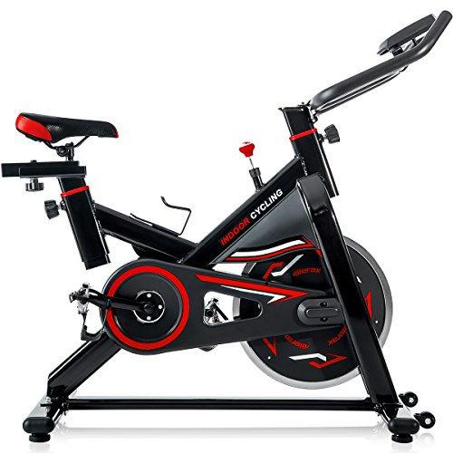 Merax S306 indoor Cycling Bike Cycle Trainer Exercise Bicycle (Red)