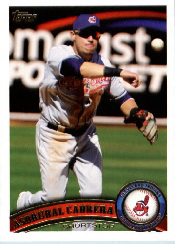2011 Topps Limited Edition Baseball Card # CLE11 Asdrubal Cabrera Cleveland Indians SS In a protective screwdown display case!