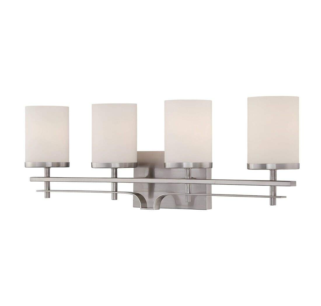 Savoy House 8-338-4-SN Colton 4-Light Vanity Bar in Satin Nickel
