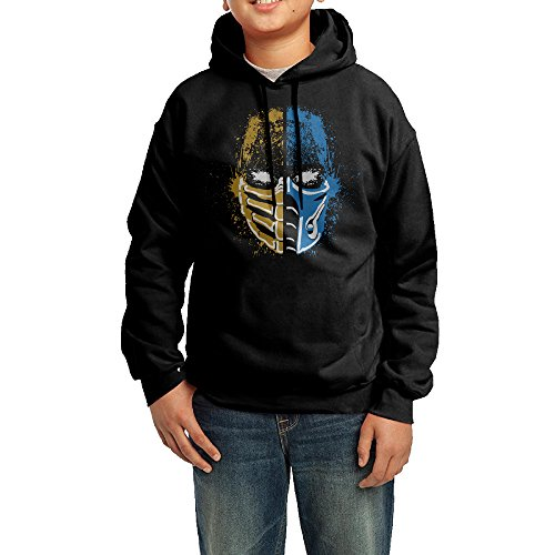 GGDD Boys & Girls Scorpion Vs Sub-Zero Mortal Kombat Jogging Funny Hoodie Hoodies Casual Style M (Women Of Mortal Kombat)