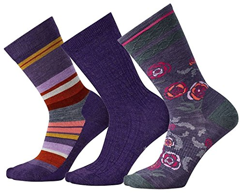 Smartwool Trio 3 Sock - Women's Mountain Purple Heather Medium
