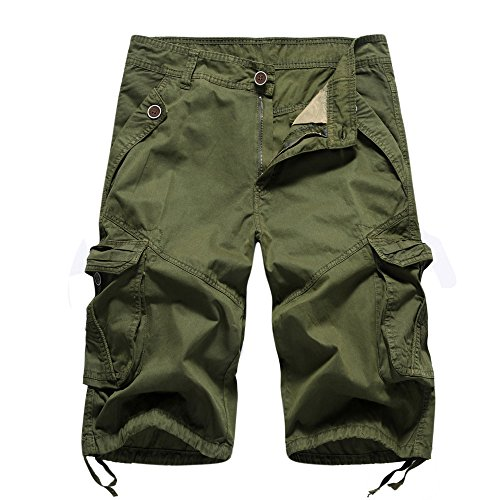 Mens Pants ! Charberry Tooling Shorts Fashion Casual Pocket Beach Work Trouser Shorts Pants (36, Army Green) by Charberry (Image #1)